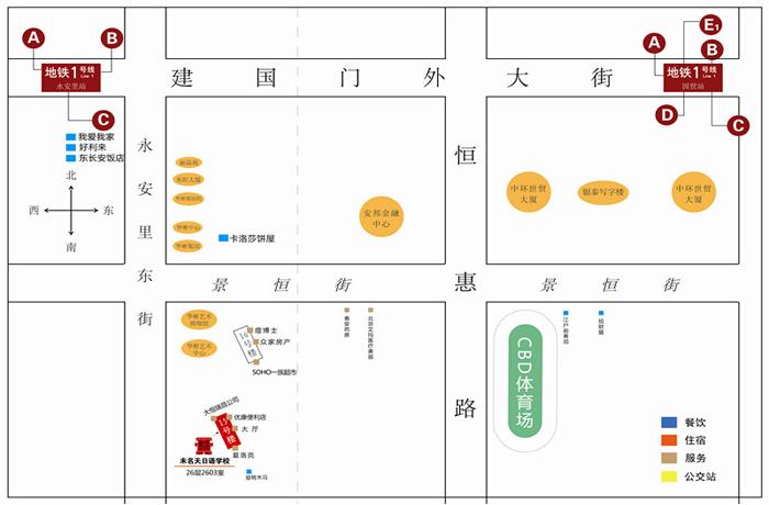 未名天日语学校国贸校区地图